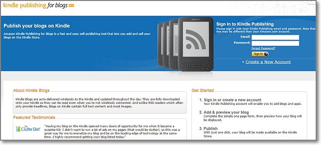 Amazon Kindle Publishin Platform