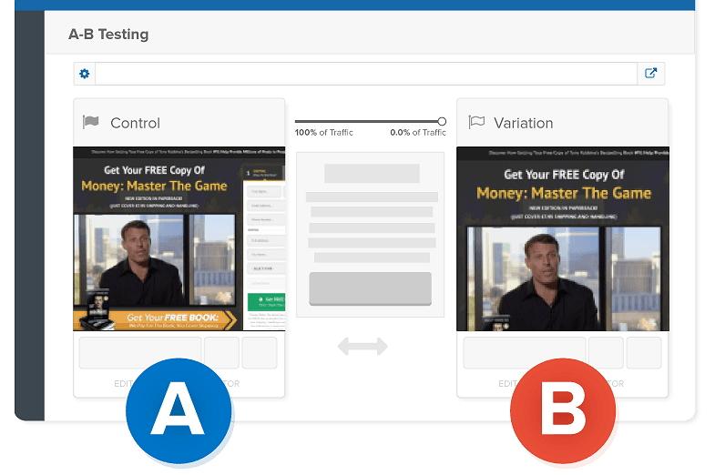 ClickFunnels AB testing