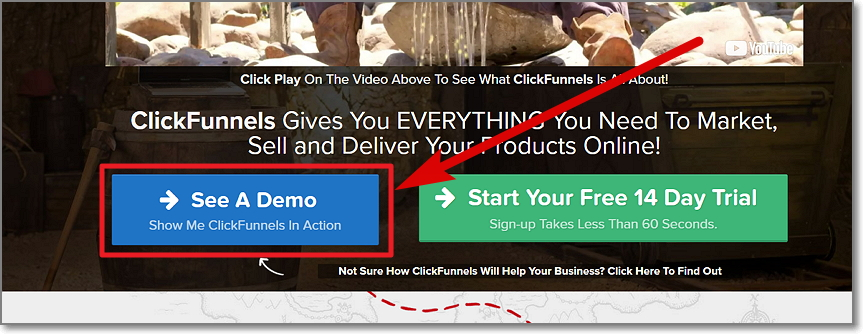 click on see demo button clickfunnels demo