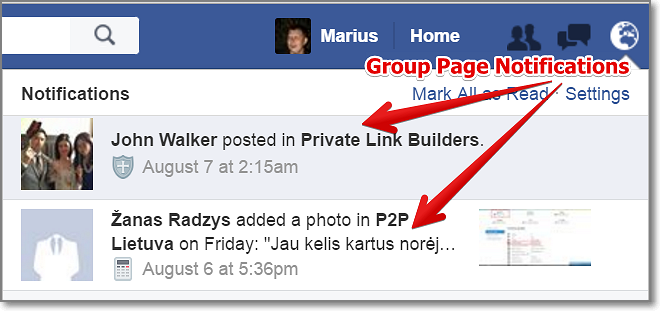 Facebook Groups are also more visible because people who belong to the group get notifications about new posts, which tends to keep the discussions going