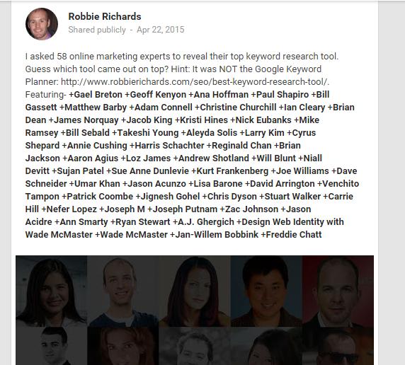 Google+ tag