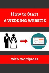 How to start a wedding website