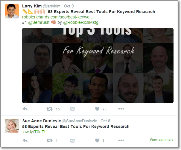 Influencers shared 58 Experts Reveal Best Tools For Keyword Research on Twitter