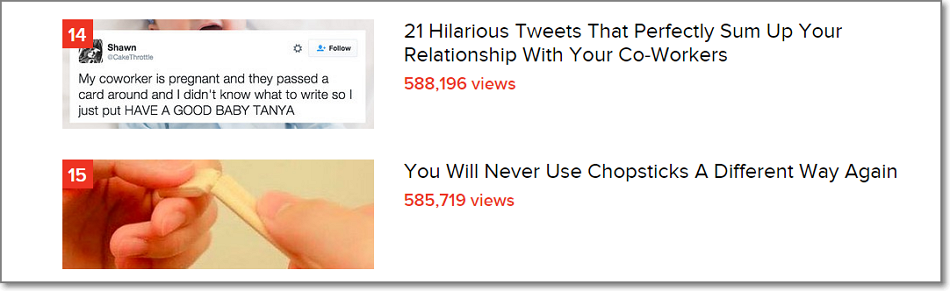 Just look at those buzzfeed headlines. Would not it fail to draw your attention?