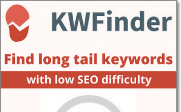KWFinder Review - find long tail keywords with low seo difficulty