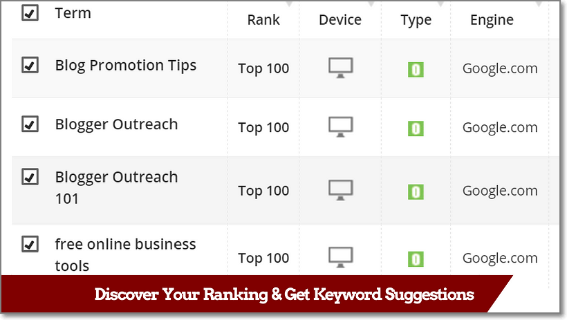 ProRankTracker - Ranking Discovery and Keyword Suggestion Features