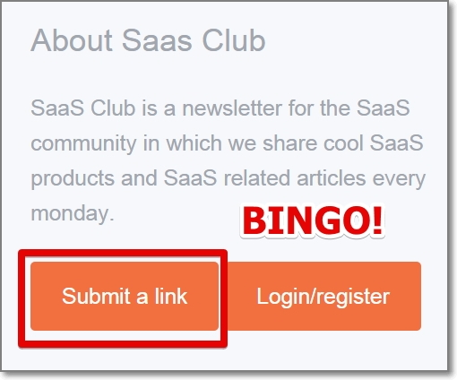 Usually newsletter roundup sites have a contact page or submission form