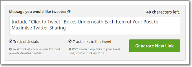 Turn your actionable tip into tweet.