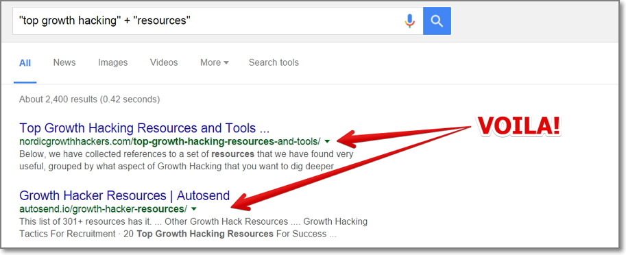 do a quick Google search using the following phrase - your keyword resources. for example top growth hacking resources