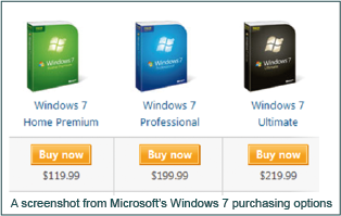 Windows 7 Pricing Example