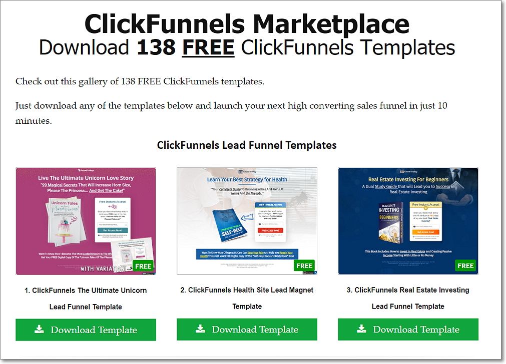 Ecommerce Funnel Templates