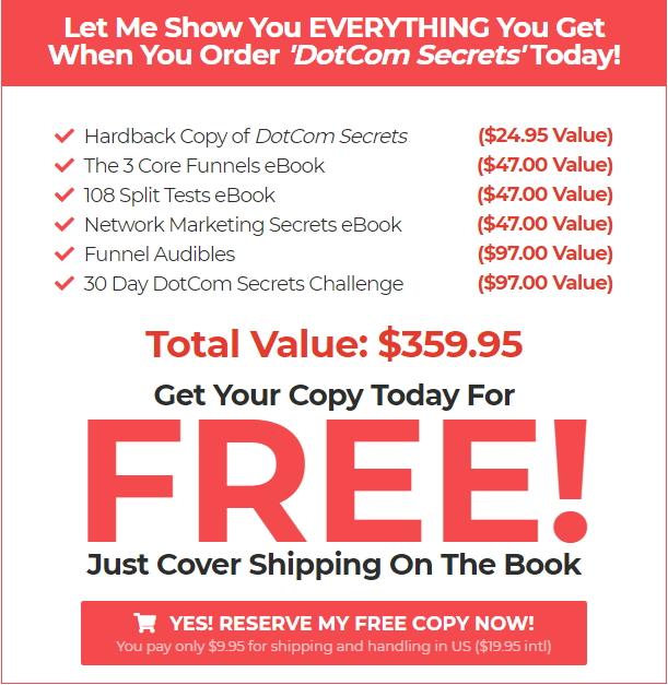 DotCom Secrets Book Bonus