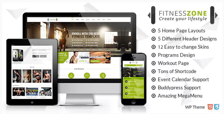 Fitness Zone Theme