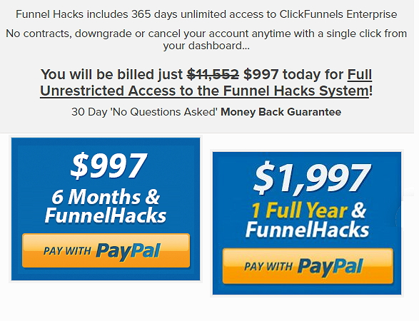 Funnel Hacks Price