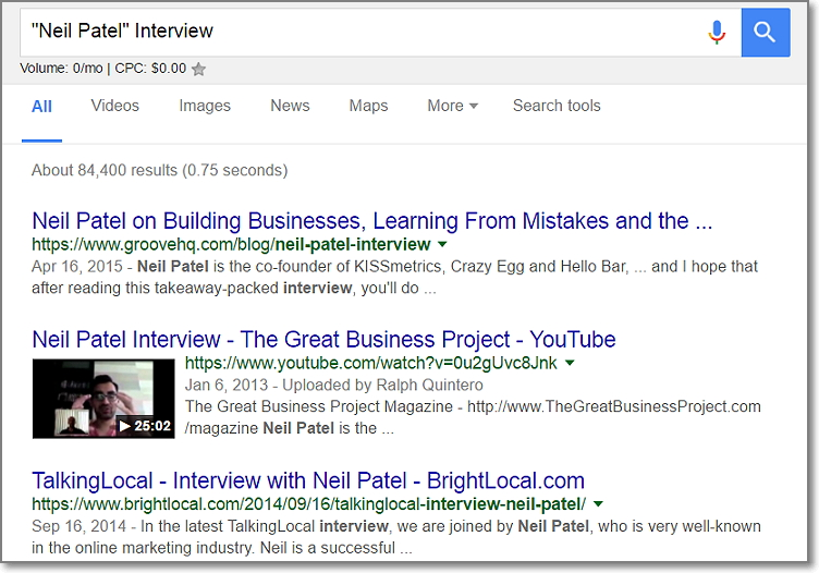 Google Search - Expert Interview