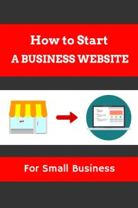 How to start a business website