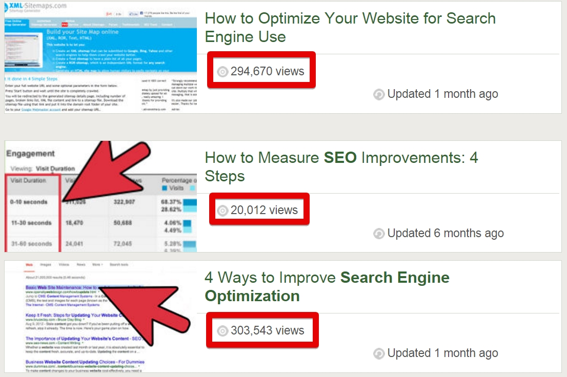 If your tutorial will be well received, you can expect thousands of views and new visitors coming to your website