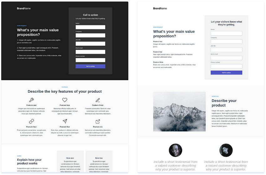 Instapage Demo Request Template