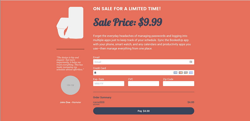 LeadPages checkout
