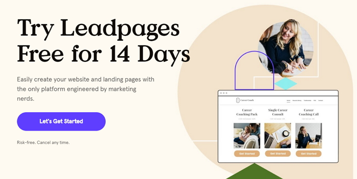LeadPages free trial for 14 days