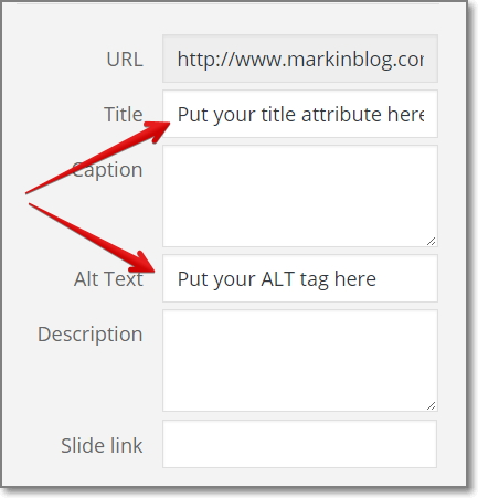 Optimize Your Images. Put Relevant Keywords in Your Image ALT And TITLE Tags