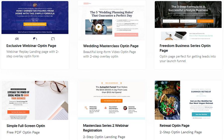 OptimizePress Landing Pages