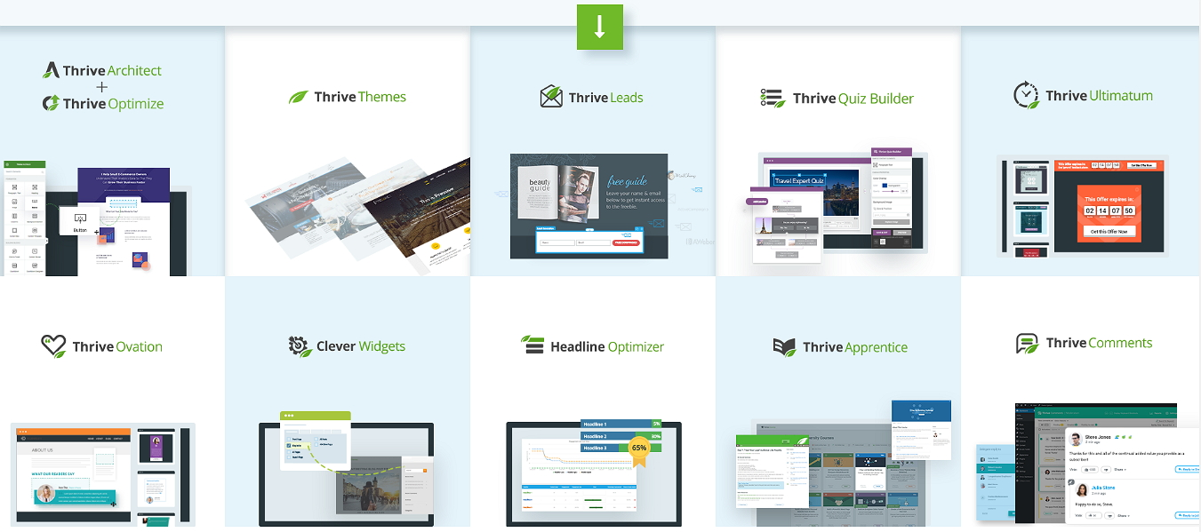 Service Number WordPress Themes Thrive Themes