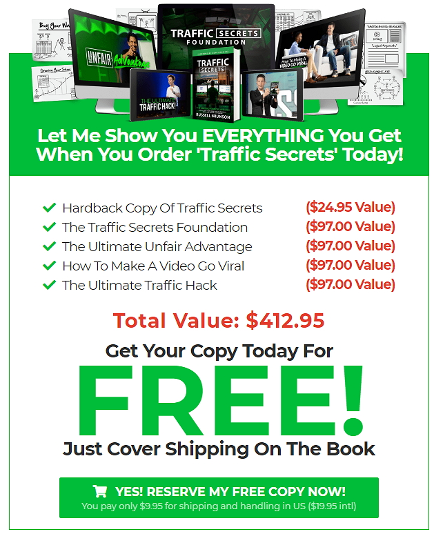 Traffic Secrets Book Bonus