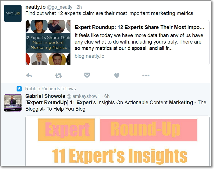 Twitter Search - Marketing Expert Roundup
