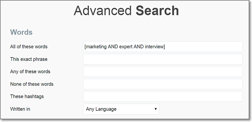 Go to Twitter search and put the following query to find interviews in marketing niche.