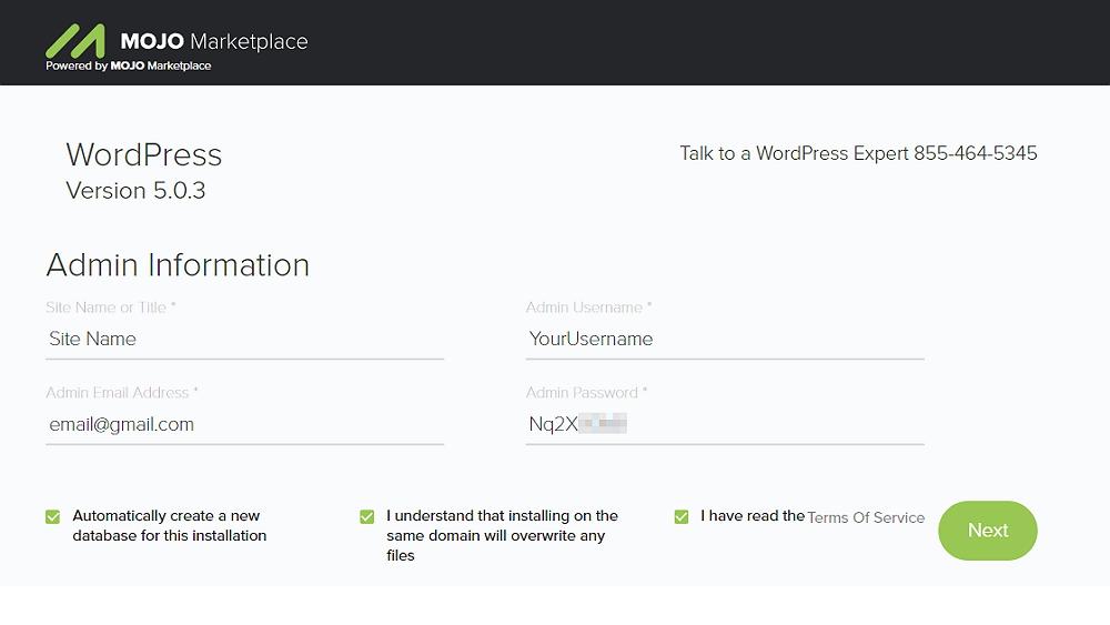 Wordpress instalation