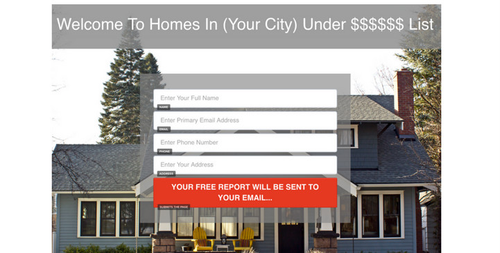 clickfunnels real estate landing page
