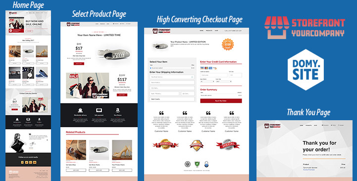 clickfunnels eCommerce Storefront Funnel by DoMy.SIte