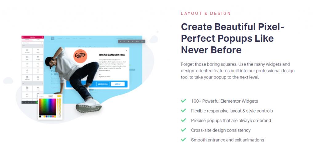 elementor popup builder create design