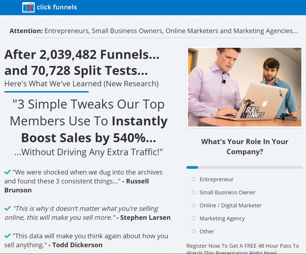 funnel builder secrets webinar