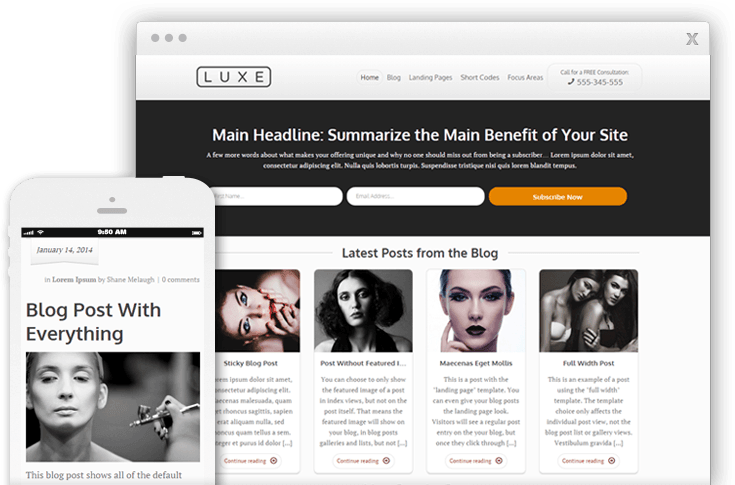 Luxe WordPress Theme
