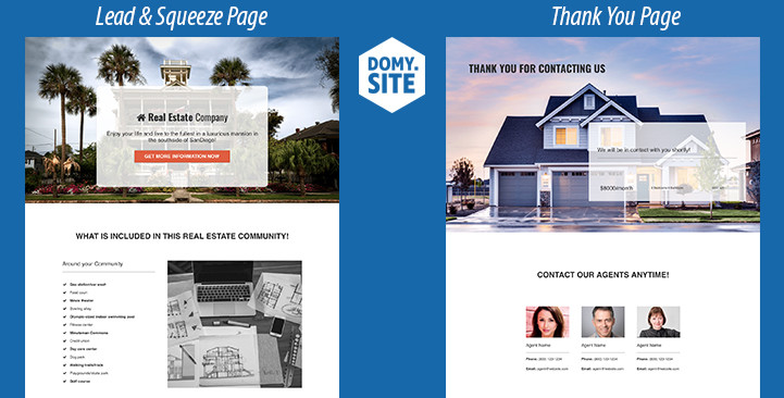 ClickFunnels real estate template domy.site