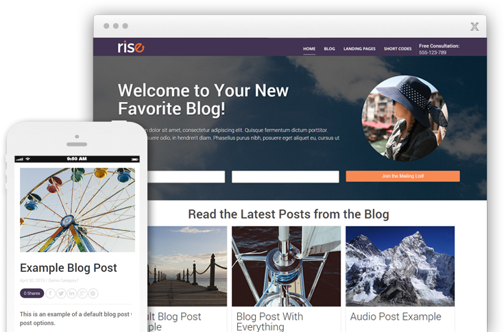Rise WordPress Theme
