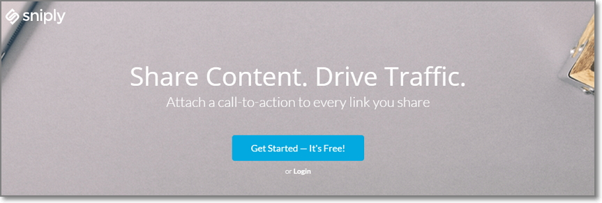 Snip.ly allows you to share other people's content and still easily bring them back to your own site.