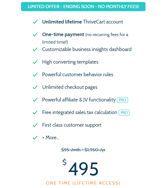 thrivecart price