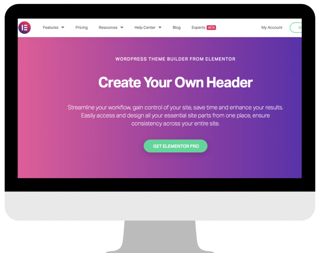 What is elementor theme builder