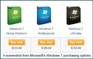 Windows 7 Pricing Example